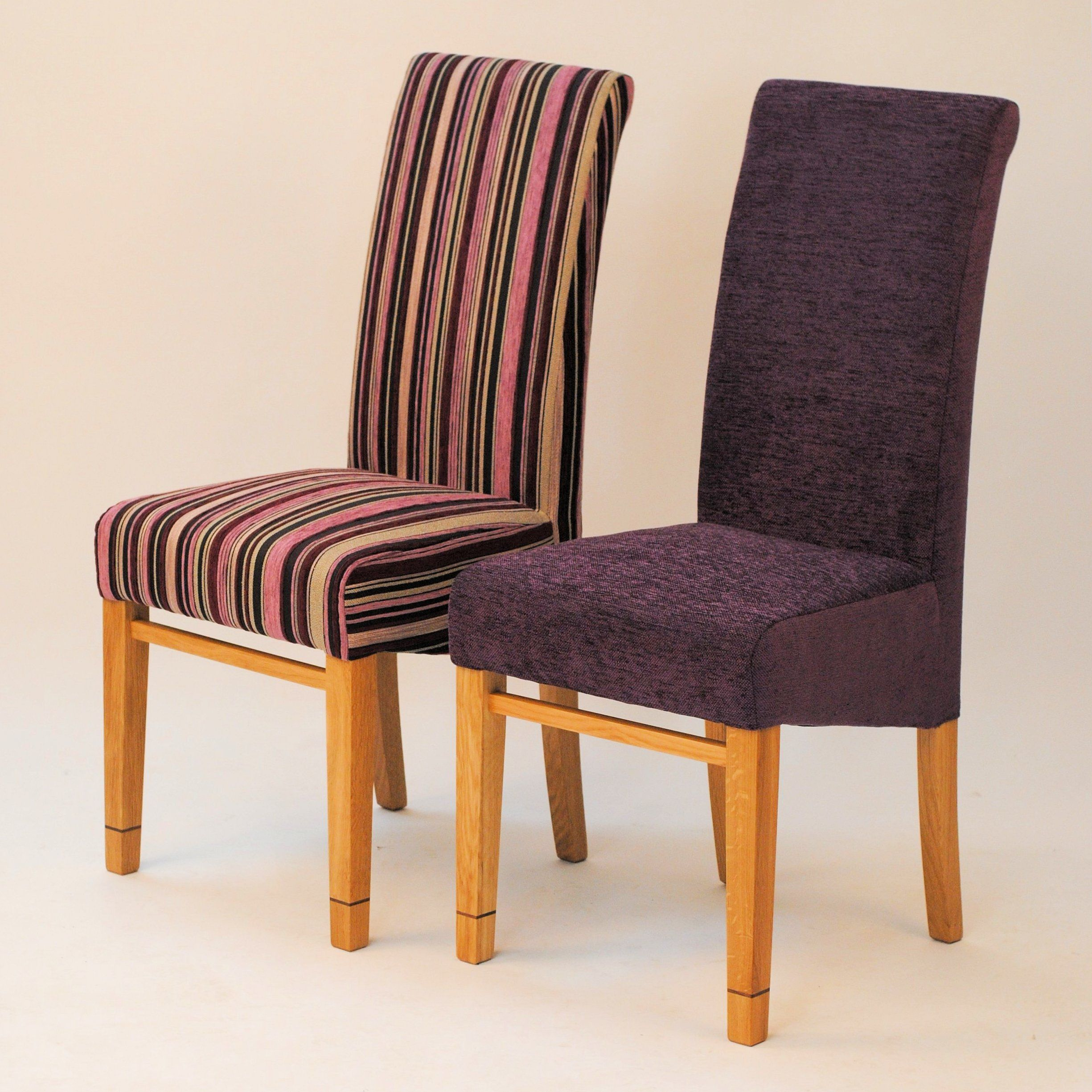 A pair of dining chairs tanner furniture designs for Plum dining room chairs